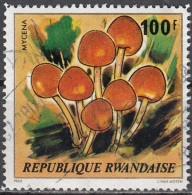 Rwanda 1980 Michel 1058 O Cote (2005) 5.00 Euro Champignon Mycène Cachet Rond - Rwanda