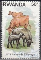 Rwanda 1978 Michel 972 O Cote (2005) 1.20 Euro Elevage Cachet Rond - Rwanda