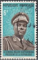 Rwanda 1974 Michel 622 O Cote (2005) 0.50 Euro Président Juvénal Habyarimana Cachet Rond - Rwanda