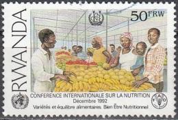 Rwanda 1992 Michel 1453B O Cote (2005) 3.00 Euro Marché Cachet Rond - Rwanda