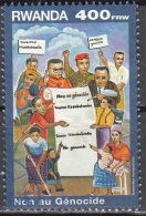 Rwanda 1999 Michel 1472 O Cote (2005) 15.00 Euro Non Au Génocide Cachet Rond - Rwanda