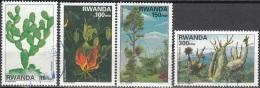 Rwanda 1995 Michel 1465A - 1468A O Cote (2005) 22.00 Euro Plantes Cachet Rond - Rwanda