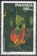 Rwanda 1995 Michel 1466A O Cote (2005) 5.75 Euro Lys Gloriosa Superba Cachet Rond - Rwanda