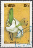 Burundi 2002 Michel 1866 O Cote (2005) 5.00 Euro Fleur Lys Lilium Longiflorum Cachet Rond - Burundi