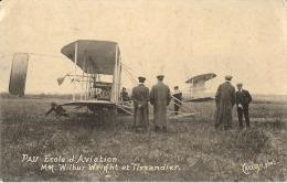 64  –Pau  école De L´aviation Messieurs Wilbur,  Wright Et Tissandier (carte Photo) - France