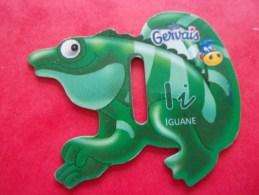 Magnet Danone  Gervais Iguane Lettre I - Lettres & Chiffres