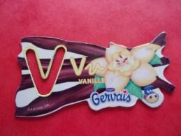 Magnet Danone  Gervais Vanille Lettre V - Lettres & Chiffres