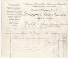MERCERIE QUINCAILLERIE CHAUSSURES BONNETERIE -MAISON CHARRAY FRERES -DAUMAS FRERES SUC.  RIEZ  BASSES-ALPES 1892 - 1800 – 1899