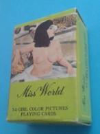 Mini Jeu De 54 Cartes GIRLS: NUS: Avec Sa Boites - 54 Cartes