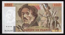 DELACROIX-  100 Frs  De 1979 ( U.20 )  Cat Fayette N° 69/3 -  Excellent état - 100 F 1978-1995 ''Delacroix''