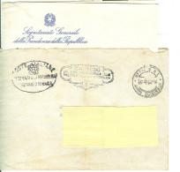 SEGRETARIATO GENERALE  PRESIDENZA DELLA REPUBBLICA -CARTEGGIO -FRANCHIGIA-1954-UFFICIO P.T. ROMA QUIRINALE- CON LETTERA, - 1946-.. République