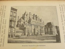 Cornelius Vanderbilt House New York Engraving Print 1895 - Prints & Engravings
