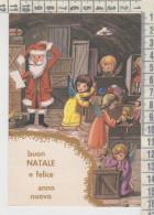 Buon Natale Babbo Natale Angeli Regali Bambole Doll   Vg - Natale