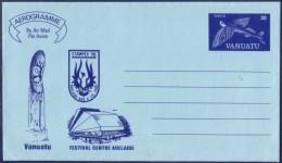 Aérogramme Du Vanuatu (Nouvelles-Hébrides) 30 Poisson Volant (illustration Stampex 86 Et Festival Centre Adelaïde) Neuf - Vanuatu (1980-...)