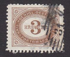 Austria, Scott #J3, Used, Postage Due, Issued 1894 - Taxe