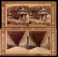 Italy Napoli  Ca1890 Two Cards Original Stereoview Photo Card Sommer Series - Fotos