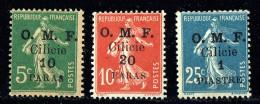 CILICIE 1920   Semeuse 10 Cent Surcharge Grasse  «O.M.F. Cilicie 10 Et 20 Paras, 1 Pi »   Yv  90-2 * MH - Neufs
