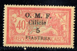 CILICIE 1920   Merson 40 Cent Surcharge Grasse  «O.M.F. Cilicie 5 Piastres»   Yv  94* MH - Cilicien (1919-1921)