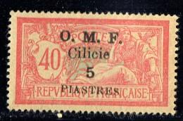 CILICIE 1920   Merson 40 Cent Surcharge Grasse  «O.M.F. Cilicie 5 Piastres»   Yv  94* MH - Cilicia (1919-1921)