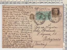 INTERO POSTALE 20/3/1939  CENT.30 CON ANNULLO PORTOGRUARO VENEZIA  ESPRESSO LIRE 1.25 - 1900-44 Vittorio Emanuele III