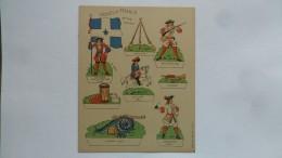 (Editions Willeb - Découpage Carton....) -  Soldats De France - Epoque Louis XIV  (planche 2.......voir Scan Et Détails) - Army