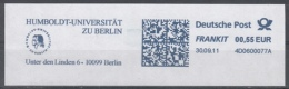 Da030 - Germany (FRG) FRANKIT, 2011, Humboldt - Universität Zu Berlin - Marcophilie - EMA (Empreintes Machines)