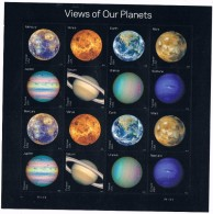 USA 2016 View Of Our Planets Sheet Of 16 X 0.49c  MNH** Space Astronomy - United States