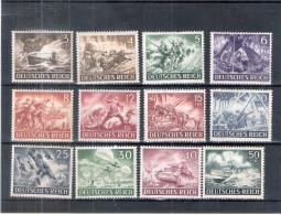 Allemagne Reich - Yv.748/59 - Série Complète - X/MH - Neufs