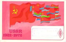 Amateur Radio QSL Card - UC2RV - USSR - 1977 - 2 Scans - Radio Amateur