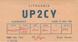 Amateur Radio QSL Card - UP2CY - Lithuania USSR - 1977 - Radio Amateur