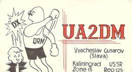 Amateur Radio QSL Card - UA2DM - Kaliningrad, USSR - 1976 - 2 Scans - Radio Amateur
