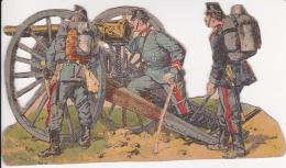 Papierfigur Einer Artillerie-Gruppe - 1. Weltkrieg (23823) - Antikspielzeug