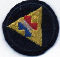 Petit écusson Croix Bleu-blanc-rouge Dans Triangle Doré  (ec3.) - Ecussons Tissu