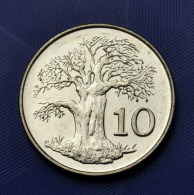 Zimbabwe 10 Cents. African Coins. Km3a. UNC. 1PCS - Zimbabwe