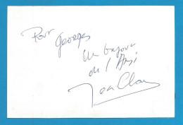 (A217) Signature / Dédicace / Autographe Original De Jean-Claude Au Verso Carte Photo - 2scan - Autographs