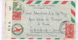 Mexico Cover Scarce Prisinor Mail To Switzerland Censored In The USA F-VF 1943 - Mexique