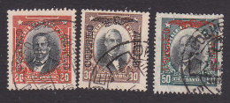 Chile, Scott #C16, C18-C19, Used, Men Of Chile Overprinted, Issued 1928 - Chile