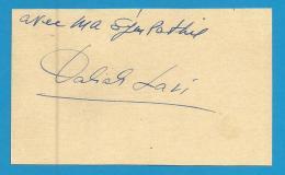 (A224) Signature / Dédicace / Autographe Original De Daliah Lavi - Actrice Chanteuse - Autographs