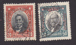 Chile, Scott #C16, C19, Used, Men Of Chile Overprinted, Issued 1928 - Cile
