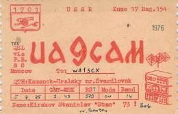 Amateur Radio QSL Card - UA9CAM - USSR - 1975 - Radio Amateur