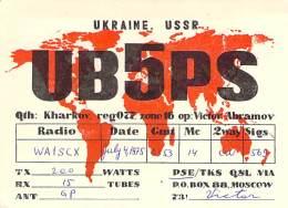 Amateur Radio QSL Card - UB5PS - Ukraine USSR - 1975 - Radio Amateur