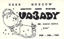 Amateur Radio QSL Card - UA3ADY - Moscow USSR - 1975 - 2 Scans - Radio Amateur