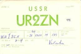 Amateur Radio QSL Card - UR2ZN - Estonia USSR - 1975 - Radio Amateur