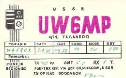 Amateur Radio QSL Card - UW6MP - Taganrog USSR - 1975 - Radio Amateur