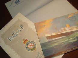 1924 RMSP ANDES Steamship Line Cruise Ship Boat Menu PASSENGER LIST Postcard - Non Classificati