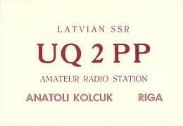 Amateur Radio QSL Card - UQ2PP - Riga Latvia USSR - 1968 - 2 Scans - Radio Amateur