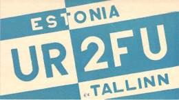 Amateur Radio QSL Card - UR2FU - Tallinn Estonia USSR - 1967 - 2 Scans - Radio Amateur