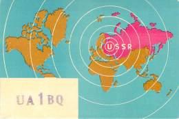 Amateur Radio QSL Card - UA1BQ - Leningrad USSR - 1969 - 2 Scans - Radio Amateur