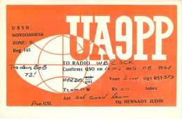 Amateur Radio QSL Card - UA6PP - Novosibirsk USSR - 1967 - Radio Amateur
