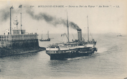 """BOULOGNE-SUR-MER. - Entre Au Port Du Vapeur """"Au Revoir"""". - LL. #148 - (Lighthouse, Wharf, Ship) - Boulogne Sur Mer"""